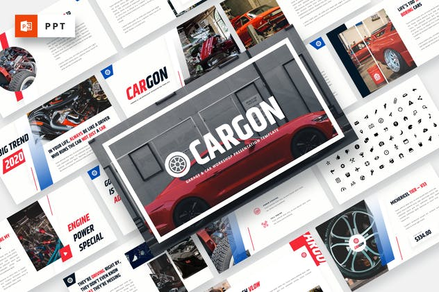 CARGON - Garage & Car Workshop Powerpoint Template