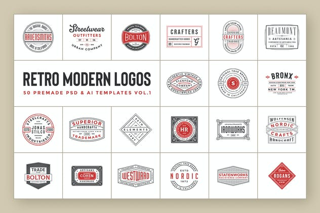 Modern Retro Logos Vol.1