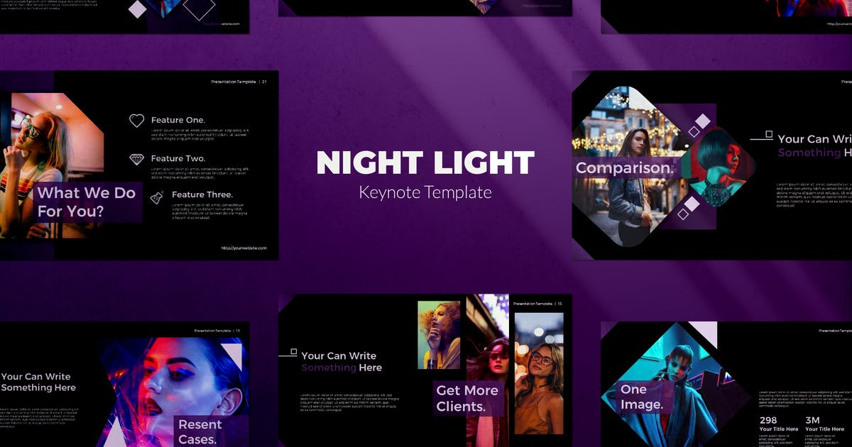 Download Night Light Keynote by templatehere
