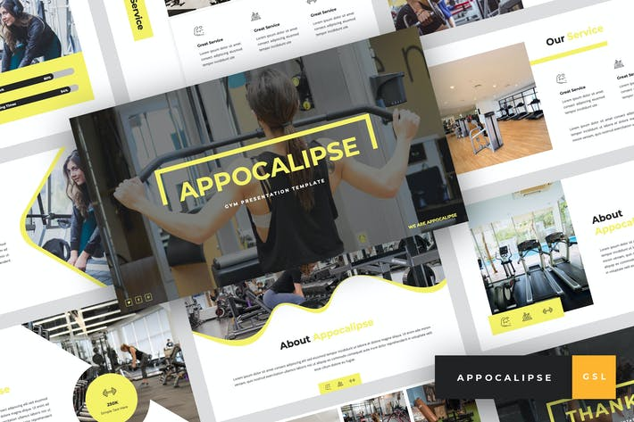 Thumbnail for Appocalipse - Gym Google Slides Template