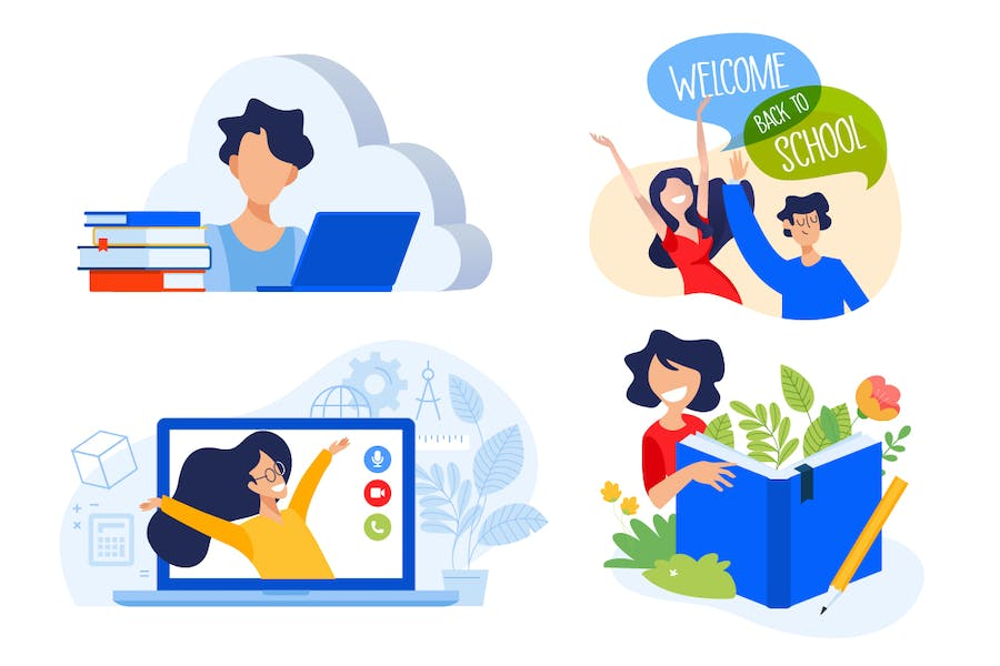Education illustrations - product preview 0