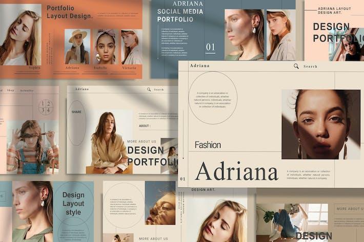 Thumbnail for ADRIANA - Мода Powerpoint Шаблон