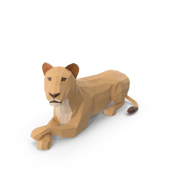 Thumbnail for Low Poly Lioness