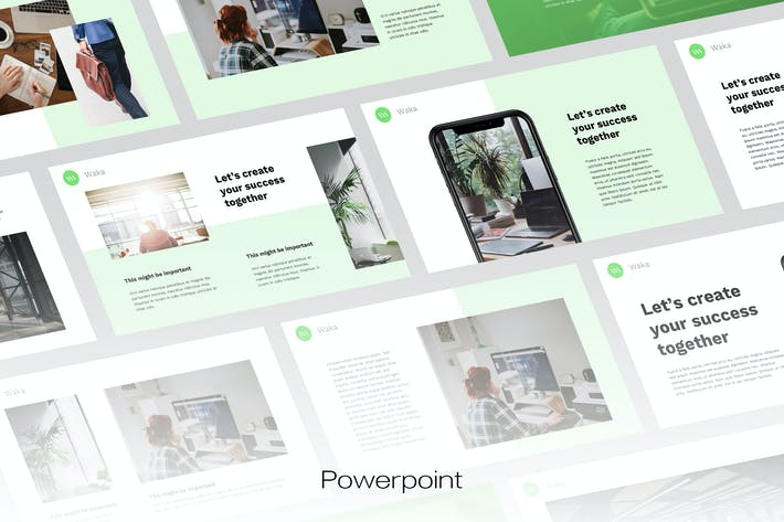 Thumbnail for WAKA - Digital Business Powerpoint Template