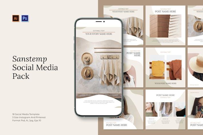 Thumbnail for Sanstemp - Social Media Kits