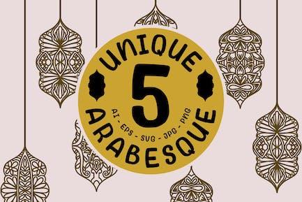 5 Unique Arabesque Mandala