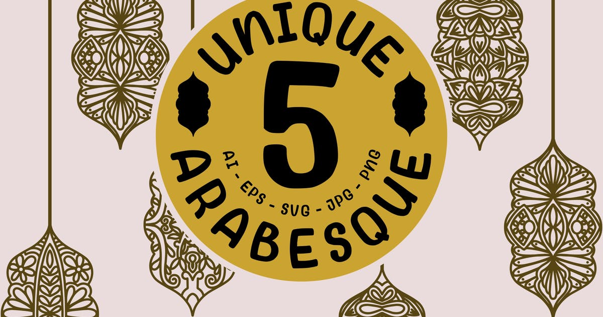 Download 5 Unique Arabesque Mandala by garisman