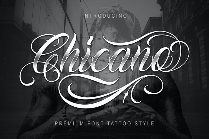 Thumbnail for Chicano Font | Tattoo Style