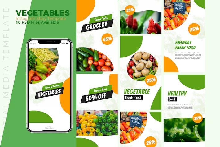 Thumbnail for Vegetables Instagram story Template