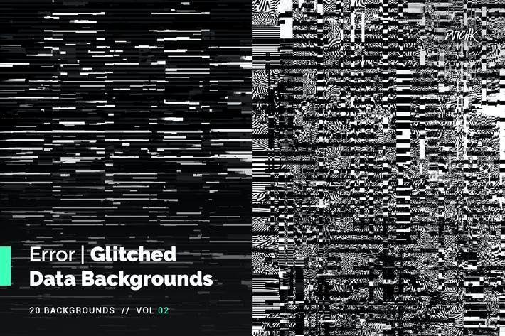 Thumbnail for Error | Glitched Data Backgrounds | Vol. 02