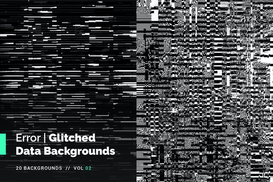 Error | Glitched Data Backgrounds | Vol. 02