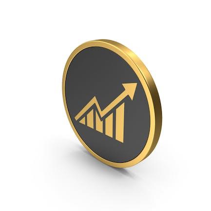 Gráfico de icono dorado