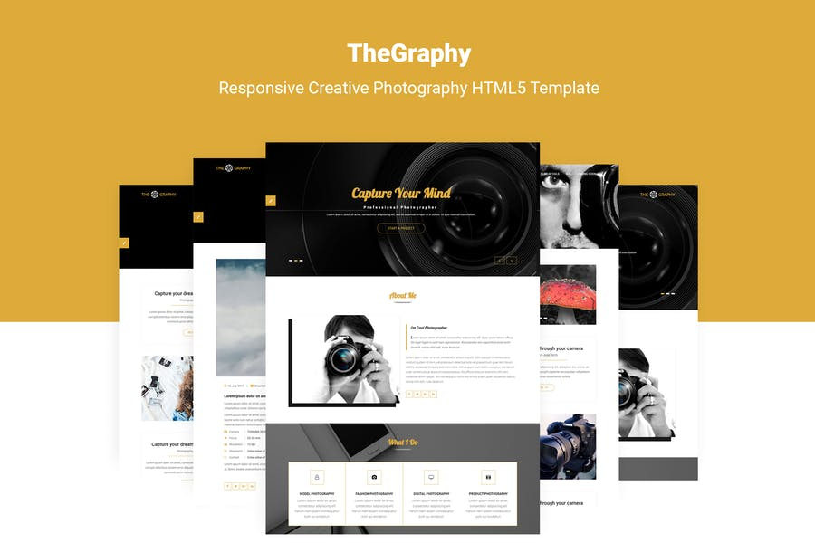TheGraphy   Creative Photography HTML5 Template