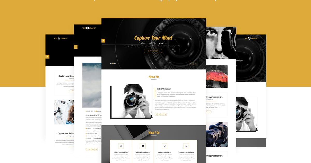 Download TheGraphy | Creative Photography HTML5 Template by themelooks