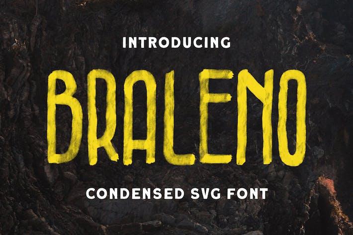 Thumbnail for Braleno - Police SVG condensée