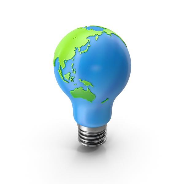 Weltkarte auf Bulb