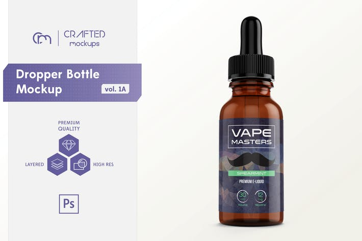 Cover Image For Dropper Bottle Mockup vol. 1A