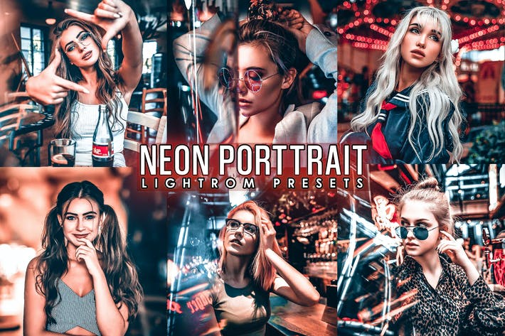 Thumbnail for Neon Portrait Presets ( Mobile & Desktop)