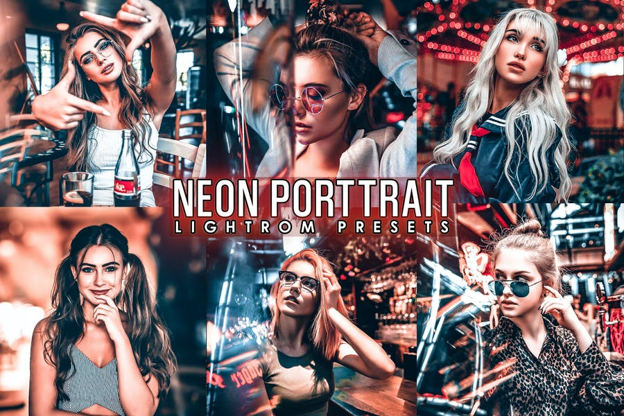 Neon Portrait Presets ( Mobile & Desktop)