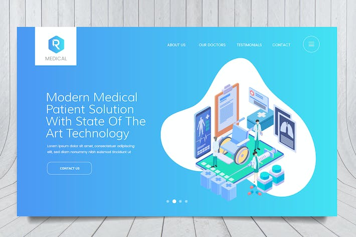 Thumbnail for Medical Web Header PSD And Vector Template Vol. 04