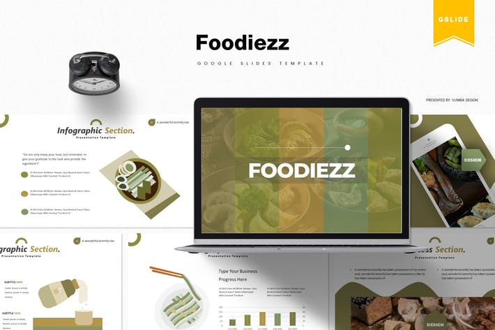 Thumbnail for Foodiezz | Google Slides Template