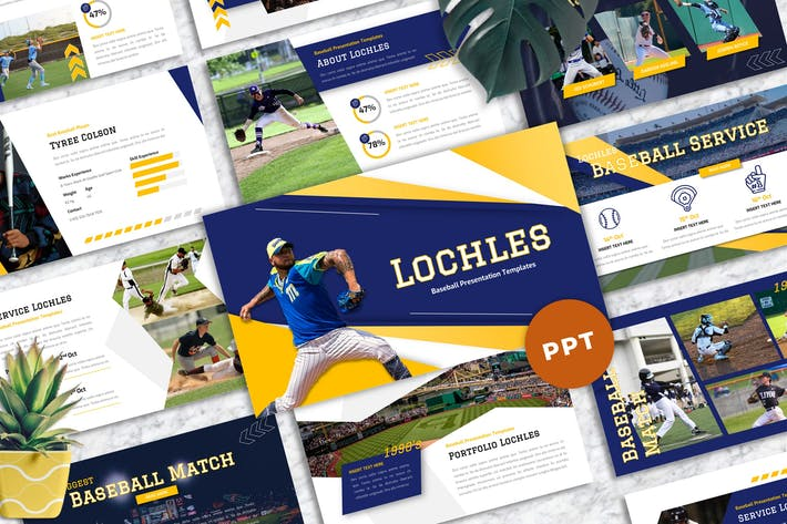 Lochles - Baseball Sport Powerpoint Templates