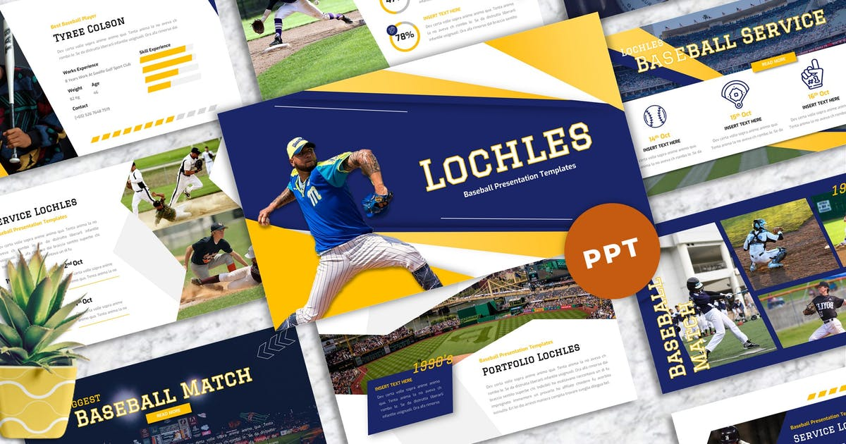 Download Lochles - Baseball Sport Powerpoint Templates by Yumnacreative