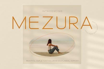Mezura Advertisement Font
