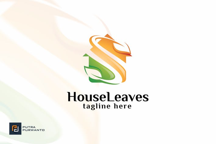 Thumbnail for House Leaves - Logo Template