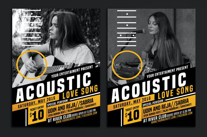 Thumbnail for Acoustic Event Flyer Poster