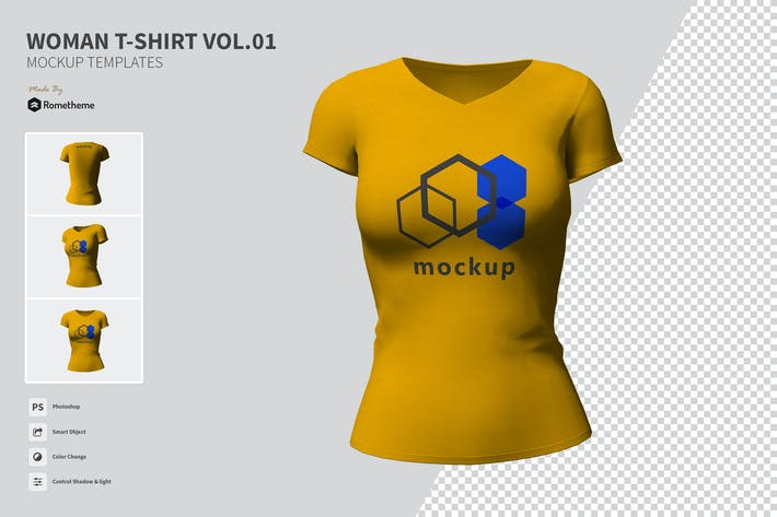 Woman T-shirt - Mockup VR