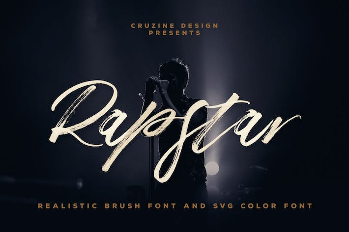 Thumbnail for Rapstar Brush & SVG Font