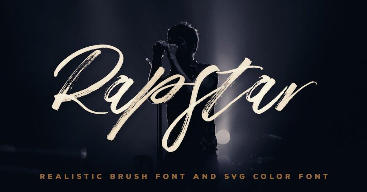 Download Rapstar Brush & SVG Font by cruzine