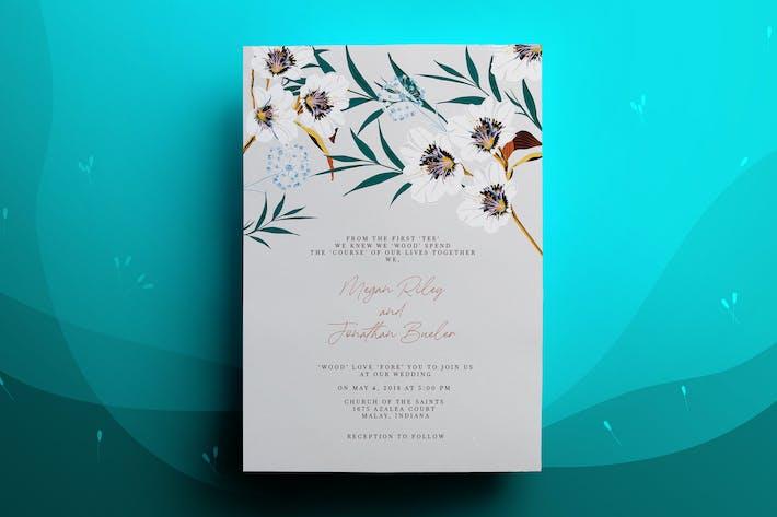 Thumbnail for Blossom Wedding Invitation Card