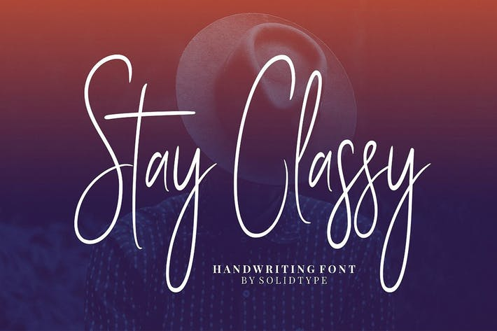 Thumbnail for Stay Classy - Font Family