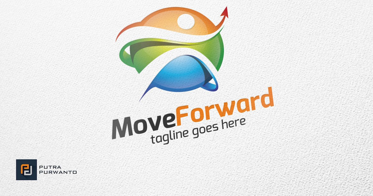 Download Move Forward / People - Logo Template by putra_purwanto