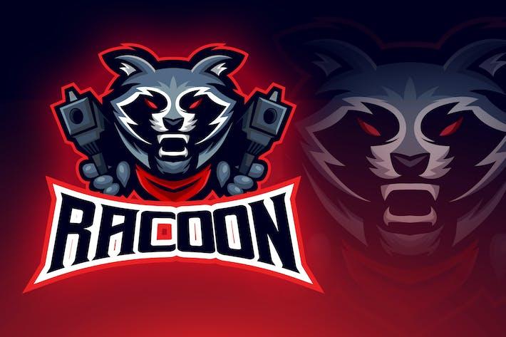 Thumbnail for Evil Bandit Racoon Esport Logo