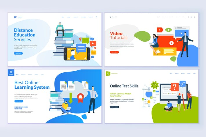 Thumbnail for Web Page Design Templates for Education