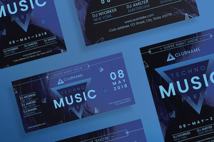 Thumbnail for Music Party Flyer and Poster Template