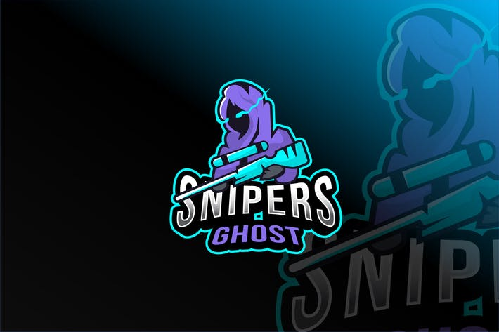 Thumbnail for Snipers Ghost Esport Logo Template