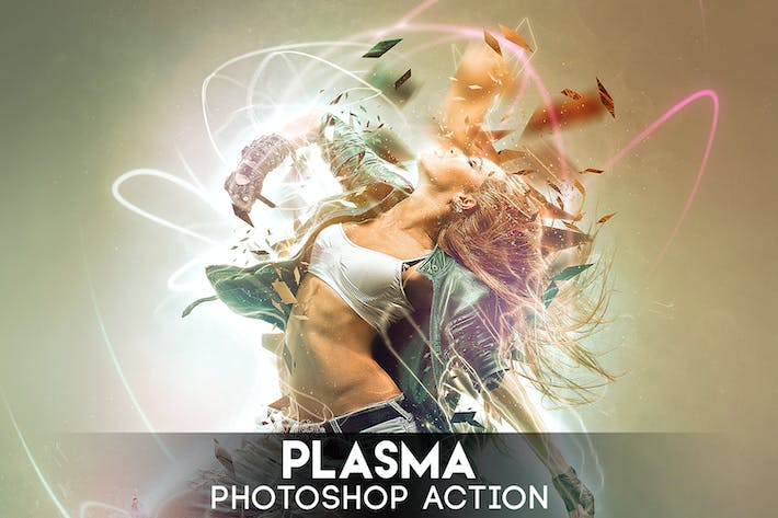 Cover Image For Plasma Photoshop Action