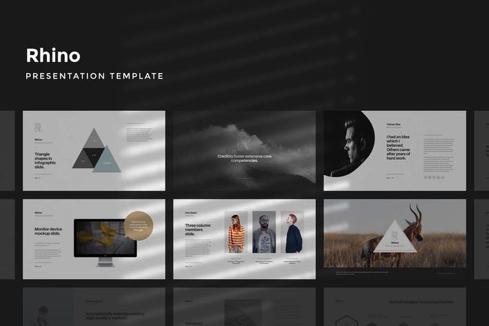 Thumbnail for Rhino Keynote Presentation Template