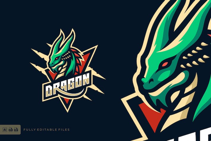 Thumbnail for Dragon Sport and eSports Logo Template