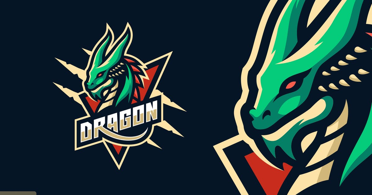 Download Dragon Sport and eSports Logo Template by ivan_artnivora