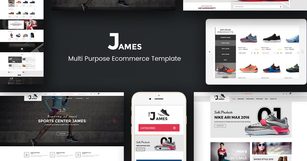 Download James - Responsive WooCommerce Shoes Theme by roadthemes