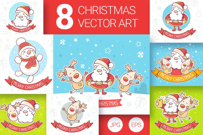 Thumbnail for 8 Christmas cards