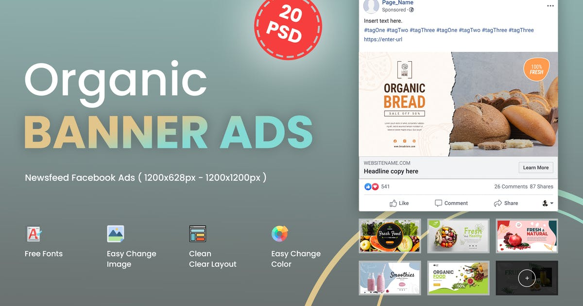 Download Fresh Organic Ads Banner by LA-Studio
