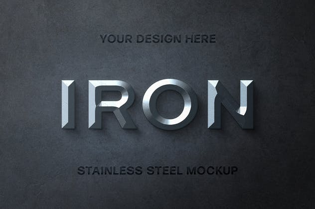 Stainless Steel Text Effect