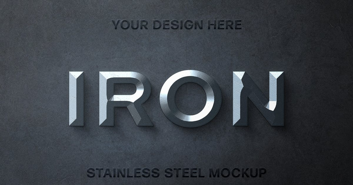 Download Stainless Steel Text Effect by pixelbuddha_graphic
