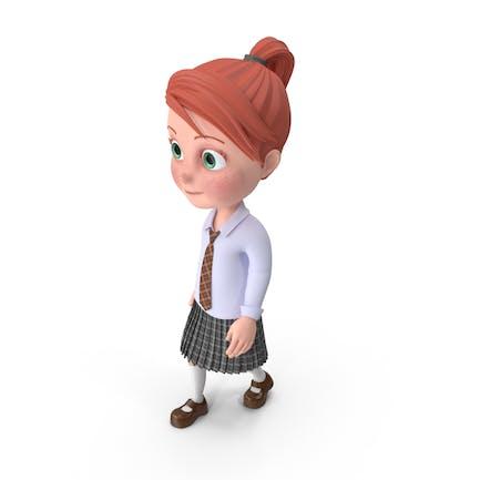 Cartoon Girl Grace Walking